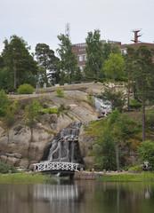 Waterfall  in Sapokka Water Garden