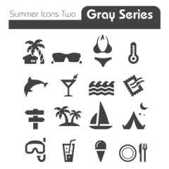 Summer Icons Two gray series Two