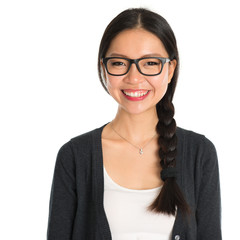 Asian young business woman