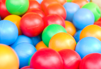 Many colour plastic balls