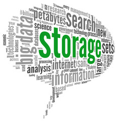 Storage concept in word cloud