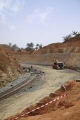 Road under construction (Cameroon)