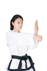 Female taekwondo athletes