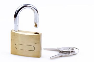 Vorhangschloss mit Schlüssel