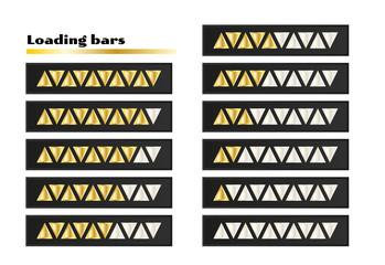 gold loading bars