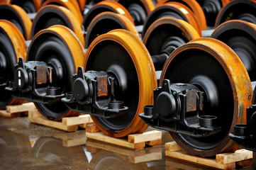 Train wheels factory