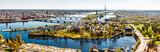 Fototapety Panorama of Riga city. Latvia