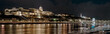 Panorama of Castle at night. Budapest, Hungary