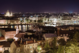View of Pest at night, eastern part of Budapest. Hungary poster
