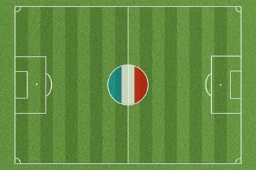 Fussballfeld Frankreich