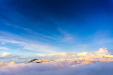 semeru mount over the cloud