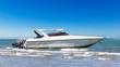 Speedboat park at beach - 64537522
