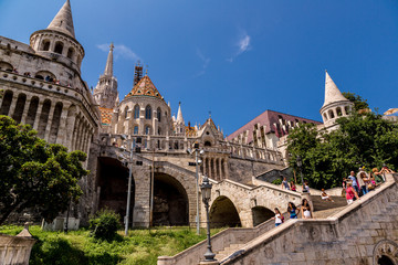 Eurtopa, Hungary, Budapest, Fishermen's Bastion. One of the land