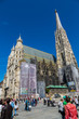 Beautiful view of St. Stephen's Cathedral at evening, Vienna, Au
