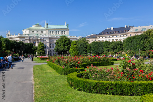 Beautiful park in Vienna, Austria