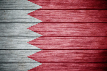 flag of bahrain Background texture wood
