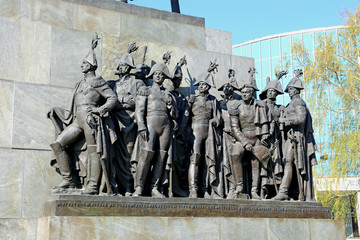 Sculptural group of Russian generals which fought with Napoleon