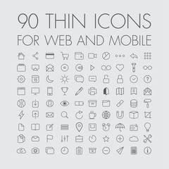 90 icons for web and mobile