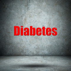 Diabetes on concrete wall