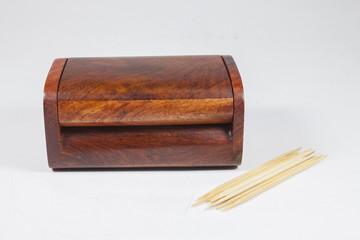 Wood Box of toothpicks