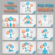 MEGA COLLECTION OF TEN BUSINESS MAN INFOGRAPHIC ORANGE NEW