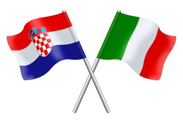 Flags : Croatia and Italy