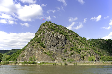 Loreley Rock at upper middle rhine valley Germany