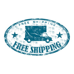 Free shipping grunge rubber stamp