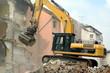 canvas print picture - Häuserfront wird abgerissen