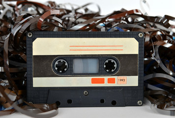 Audio cassette and tape composition