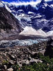 French Glacier. Torres del Paine
