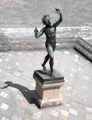 Dancing Faun statue, House of the Faun, Pompeii