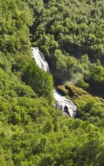 Naeroyfjord, Fjord, Wasserfall, Sommer, Norwegen