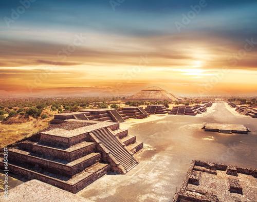 Obraz na płótnie Teotihuacan, Meksyk, Piramida Słońca i alei de