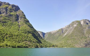 Naeroyfjord, Laerdal, Fjord, Campingferien, Sommer,  Norwegen