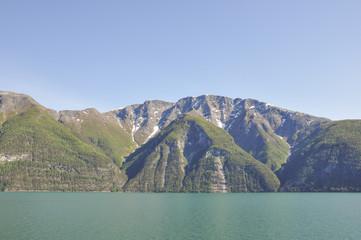 Laerdalsfjord, Fjord, Küste, Laerdal, Dorf, Sommer,  Norwegen