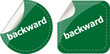 backward word on stickers button set, label