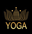 Lotus yoga icon logo vector concept