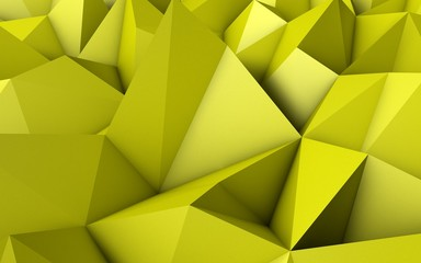 Abstract Yellow Low Poly 3D Background