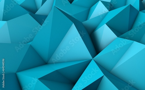Abstract Blue Low Poly 3D Background