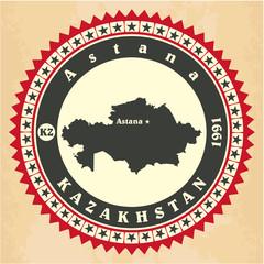 Vintage label-sticker cards of Kazakhstan.