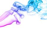 Fototapety Colored smoke isolated on white background