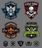 Cycle patches emblem set