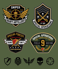 Special ops patch emblem set