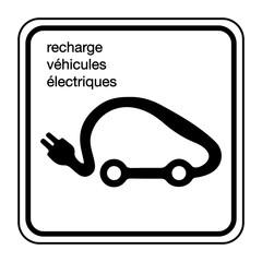 Logo recharge véhicules électriques.