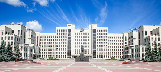 Parliament building in Minsk. Belarus