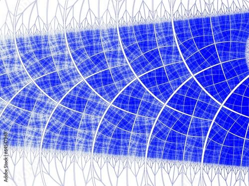 Leinwandbild Motiv Symmetrical blue fractal flower