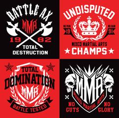 Mixed martial arts MMA emblems