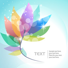 Abstract leaf flower background