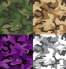 Colored camouflage patterns seamless